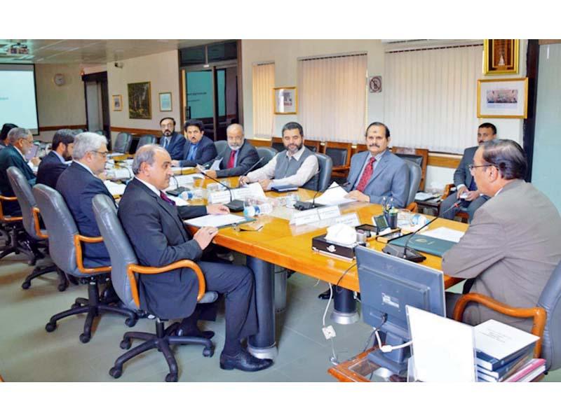 NAB Chairman Qamar Zaman Chaudhry chairs a meeting of the bureau. PHOTO: EXPRESS