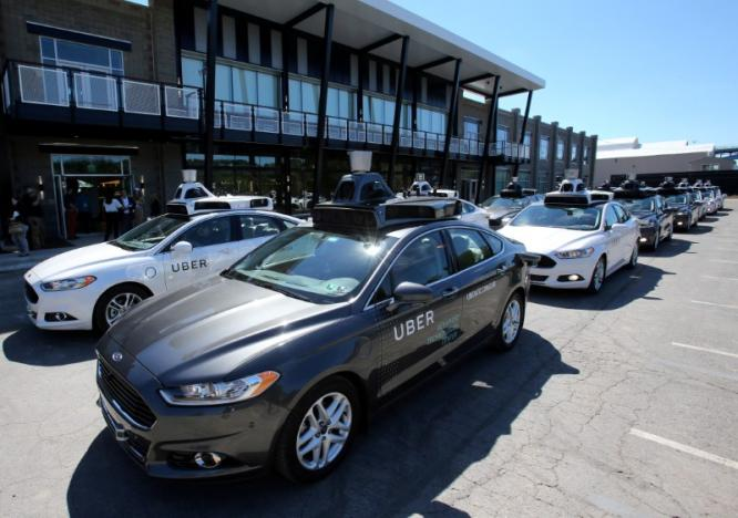 a fleet of uber 039 s ford fusion self driving cars are shown during a demonstration of self driving automotive technology in pittsburgh u s september 13 2016 photo reuters