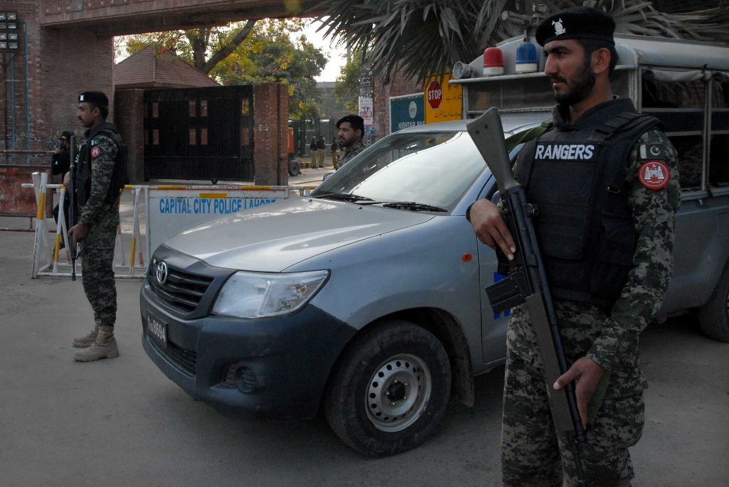 troops bullet proof buses are deployed for sunday s showdown photo express shahbaz malik