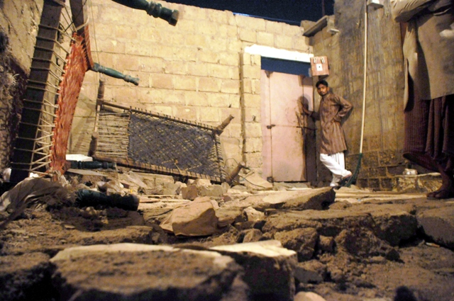 courtyard wall collapses on four brothers crushing them to death photo express mohammad noman