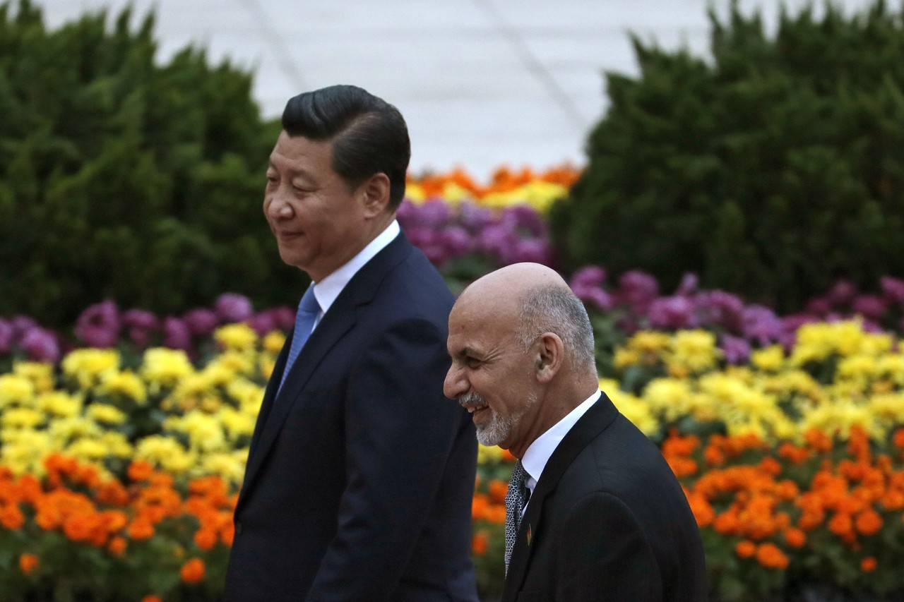Chinese President Xi Jinping and Afghan President Ashraf Ghani. PHOTO: TEUTERS