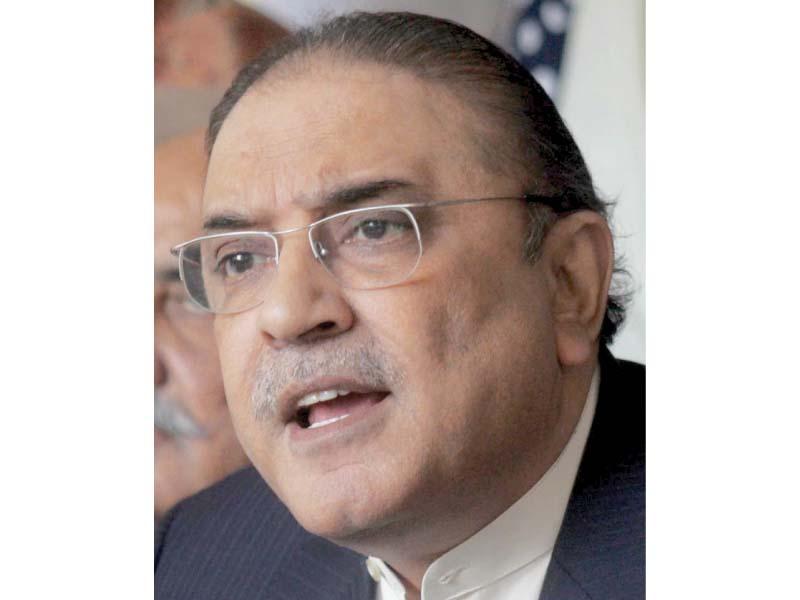 Asif Ali Zardari. PHOTO: ONLINE