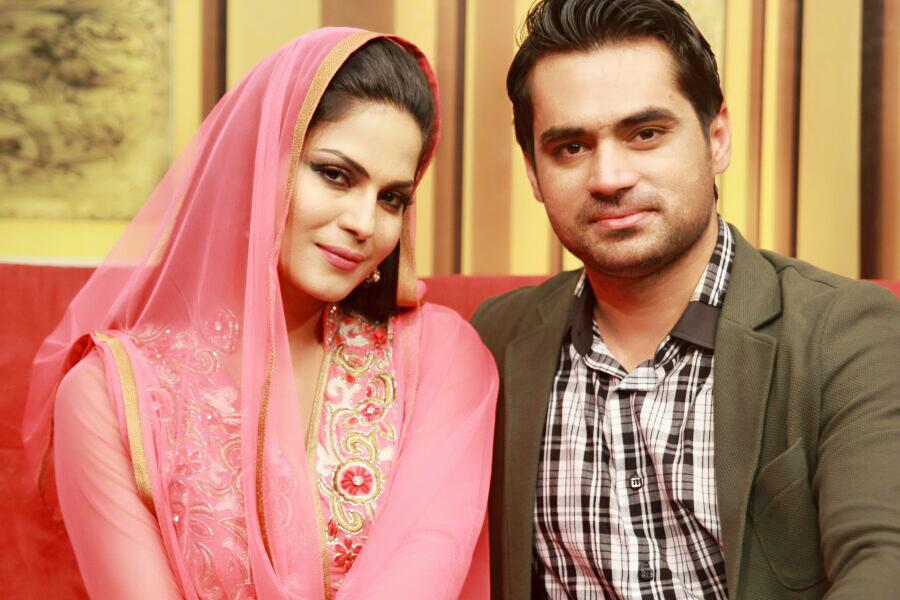 veena malik and asad khattak photo file