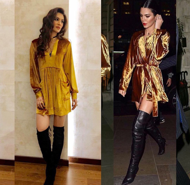 kriti sanon kendall jenner caught fashion twinning