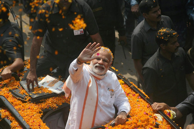Indian Prime Minister Narendra Modi's Hindu nationalist Indian Prime Minister Narendra Modi's Hindu nationalist Bharatiya Janata Party is trying to win control of Uttar Pradesh. PHOTO: AFP