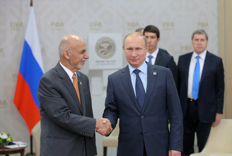 President of the Russian Federation Vladimir Putin meets with President of the Islamic Republic of Afghanistan. PHOTO: AFP