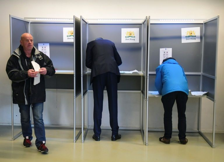 dutch vote in key elections as far right slips