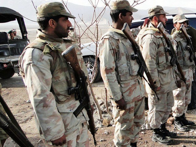Two terrorists gunned down in Awaran, 10 others arrested in Hoshab, Dera Bugti. PHOTO: EXPRESS