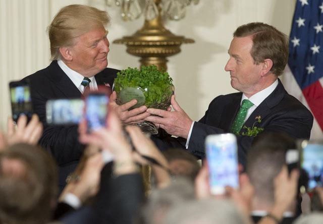 st patrick was an immigrant irish pm tells trump