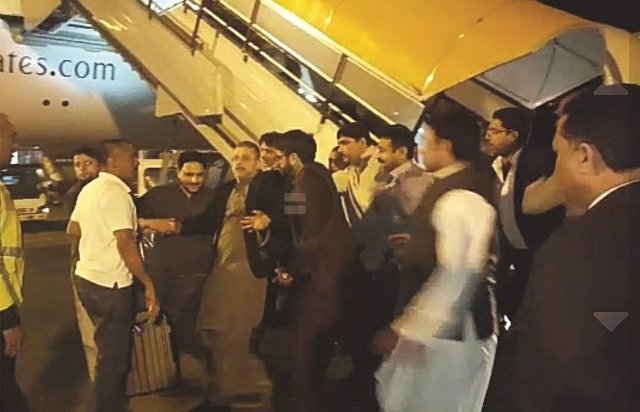 Sharjeel Memon was taken into custody by officials at the Islamabad airport. SCREEN GRAB EXPRESS