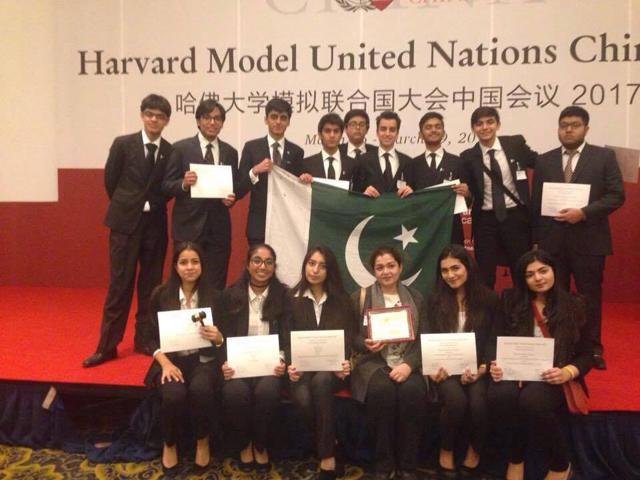 karachi school wins big at harvard mun