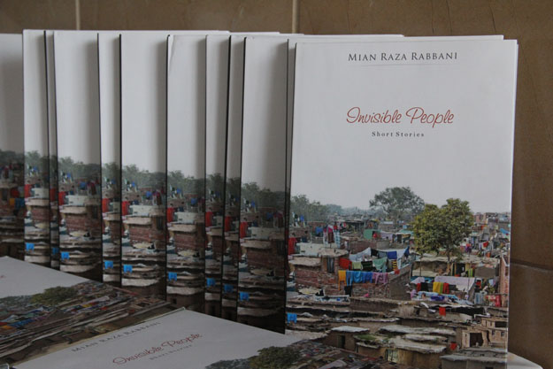 Senator Rabbani's book is about the lives of common people. PHOTO: AYESHA MIR/EXPRESS