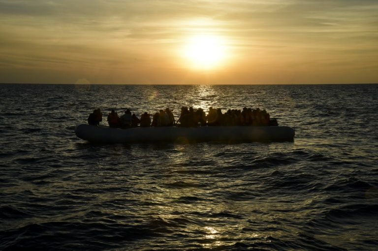 libya says 205 africans including eight women and a child were rescued off the coast of tajura 30 kilometres photo afp
