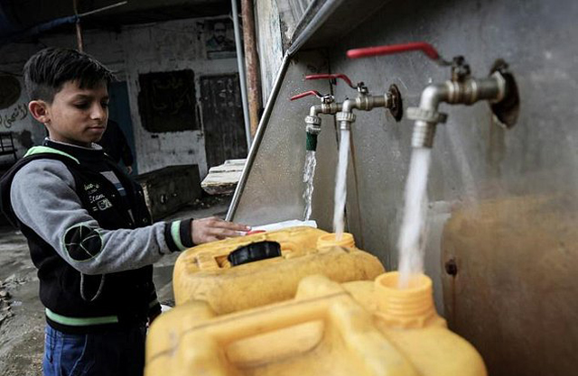Drinking water in Gaza is causing a rising number of its residents to fall ill and the UN says scarcity and pollution of water resources are at the forefront of the territory's scourges. PHOTO: AFP