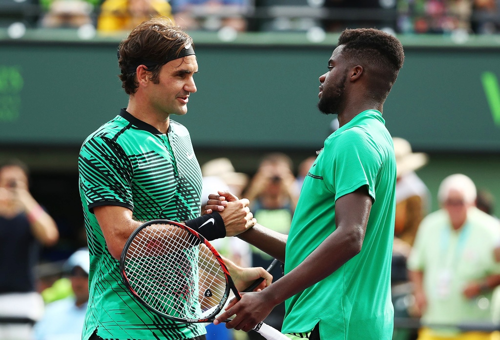 rising star federer was full of praise for his young american opponent frances tiafoe and said he would have gained valuable experience from the contest photo afp