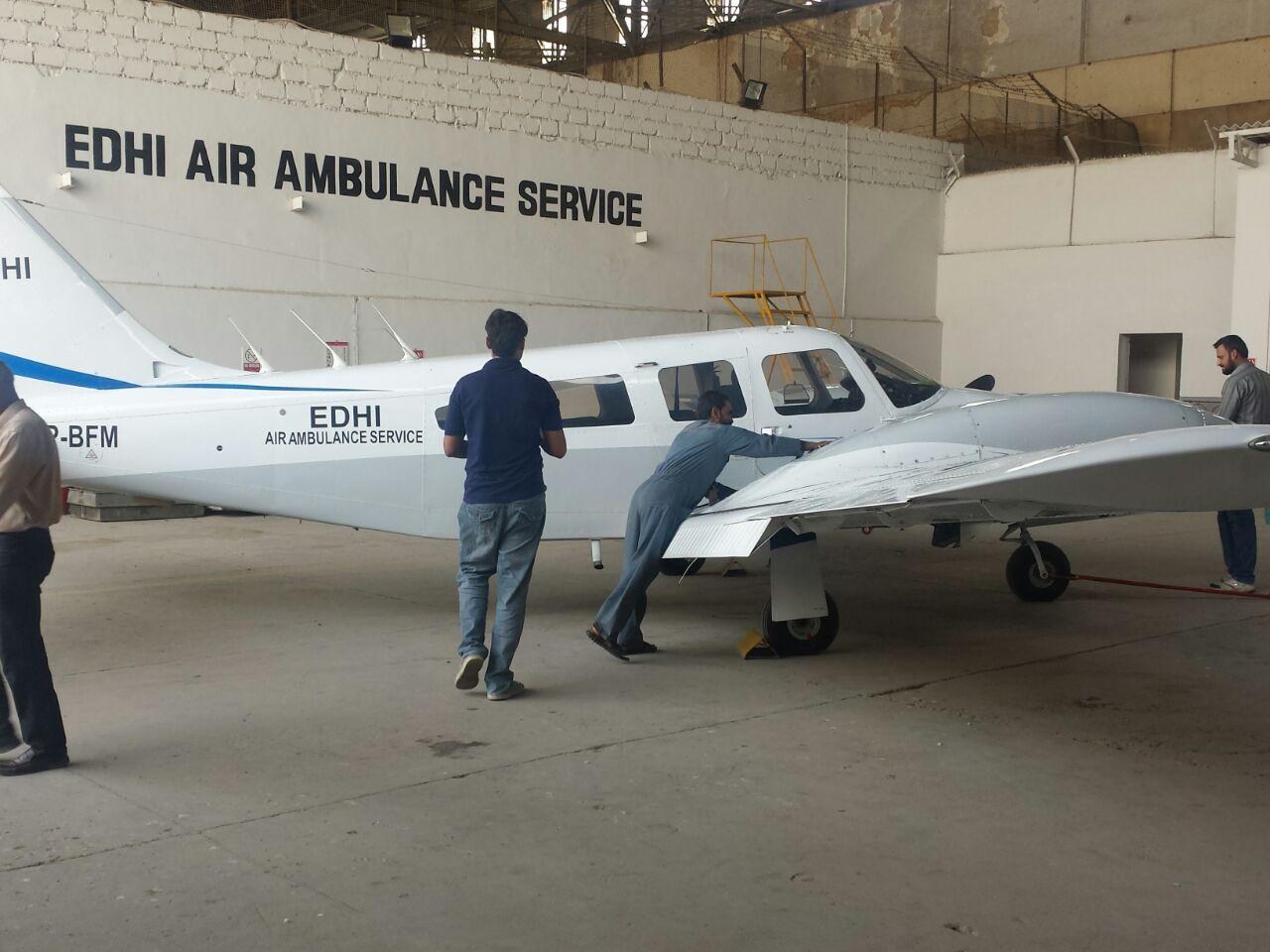 The death of their chief pilot Captain Imtiaz three years back was the reason behind shutting down the Edhi Air Ambulance Service. PHOTO: COURTESY FAISAL EDHI