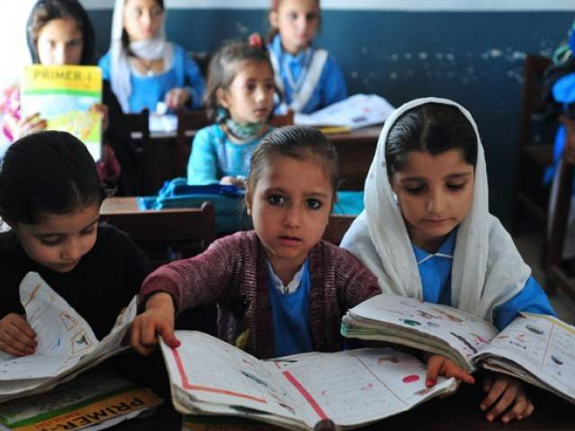 The members discussed improvement of standards and broadening the base of the education sector in AJK and G-B. PHOTO: EXPRESS/FILE