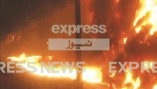 train rams into oil tanker near sheikhupura 1 dead six injured