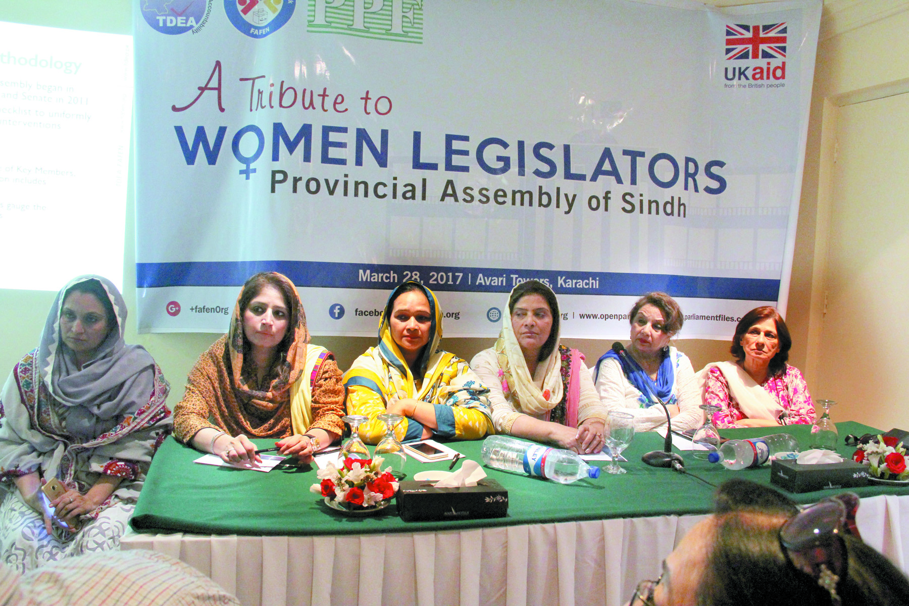Appreciation: From a total of 30 female MPAs out of the 168 members, nine were given awards at the ceremony, which included parliamentarians from  separate political parties. PHOTO: Ayesha Mir/Express