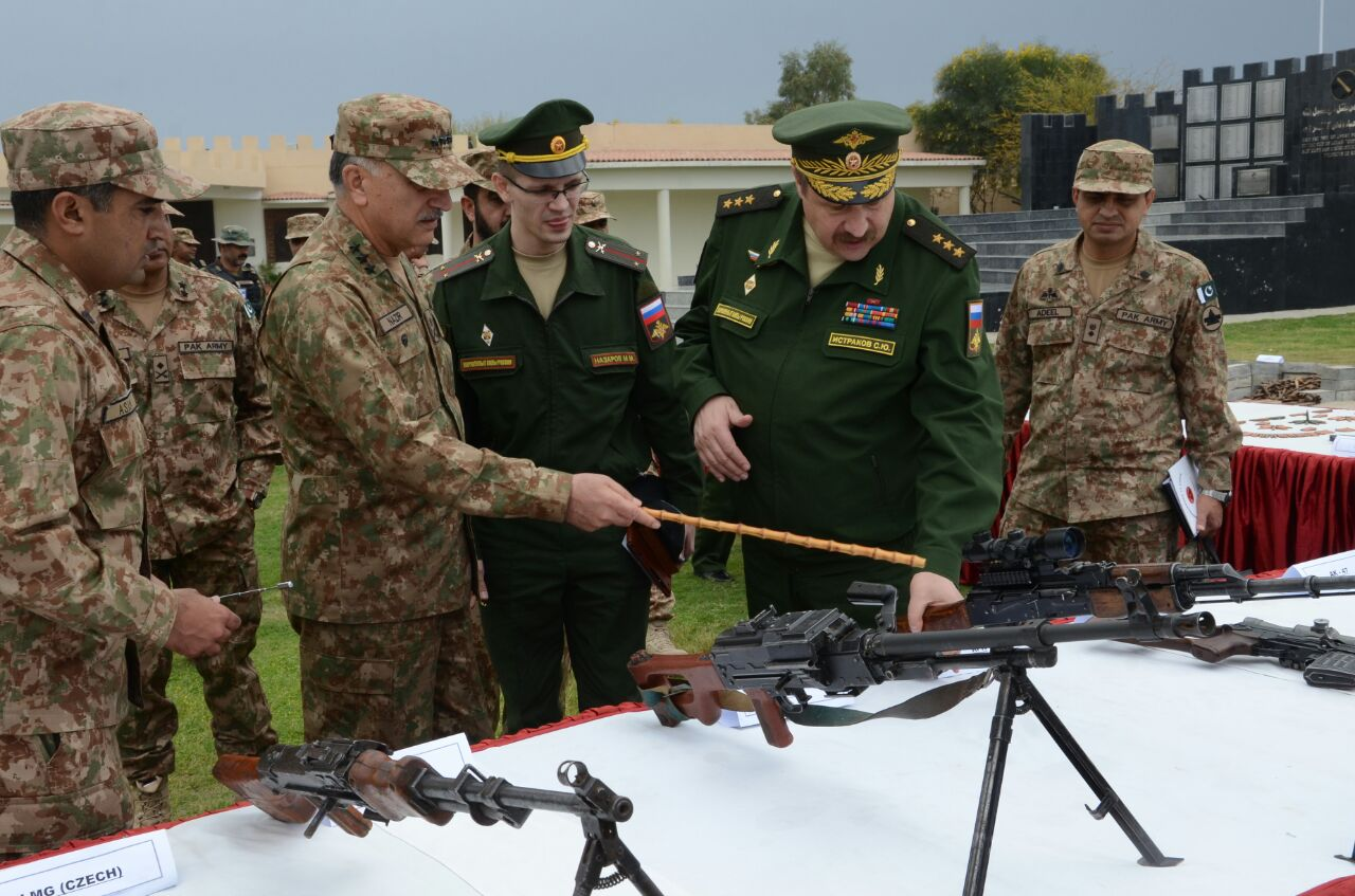 Russian delegation visits North Waziristan Agency on Thursday. PHOTO: ISPR