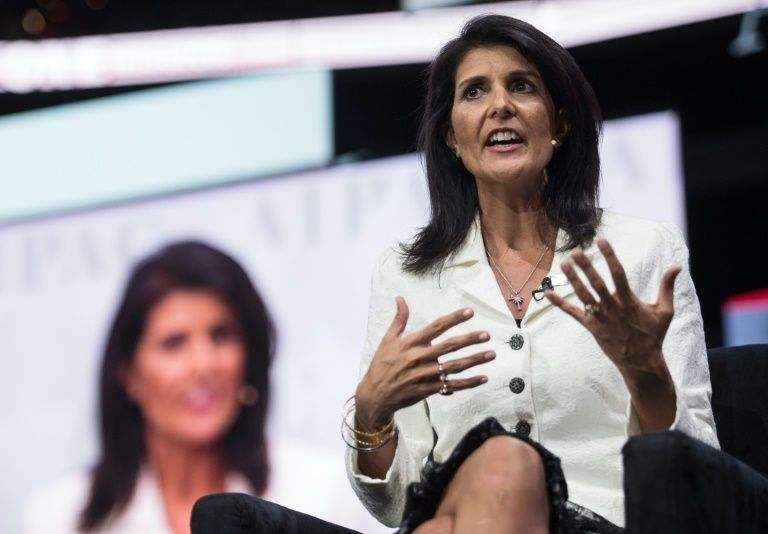 The US Ambassador to the UN Nikki Haley says US administration is concerned about the relationship between India and Pakistan.PHOTO: AFP/FILE