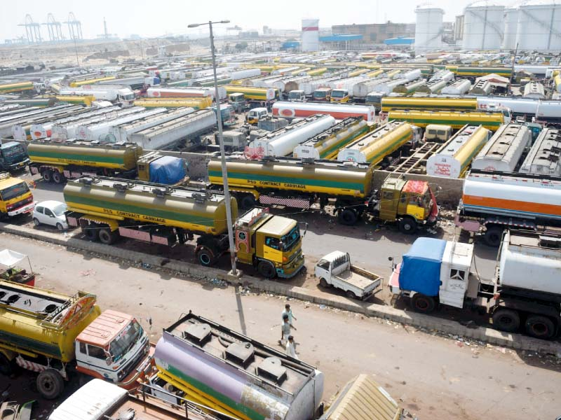 oil tankers parked at a terminal at a port in karachi photo afp