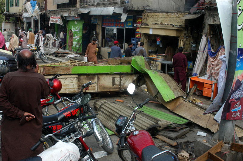 anti encroachment operation cda drive cleans up aabpara market