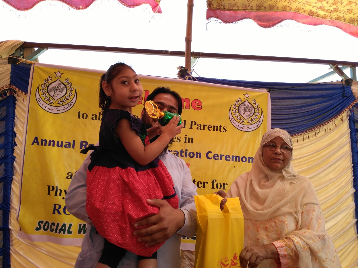 differently abled kids awarded medals trophies and certificates