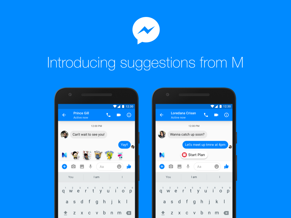 facebook s ai assistant m to offer suggestions during messenger chat
