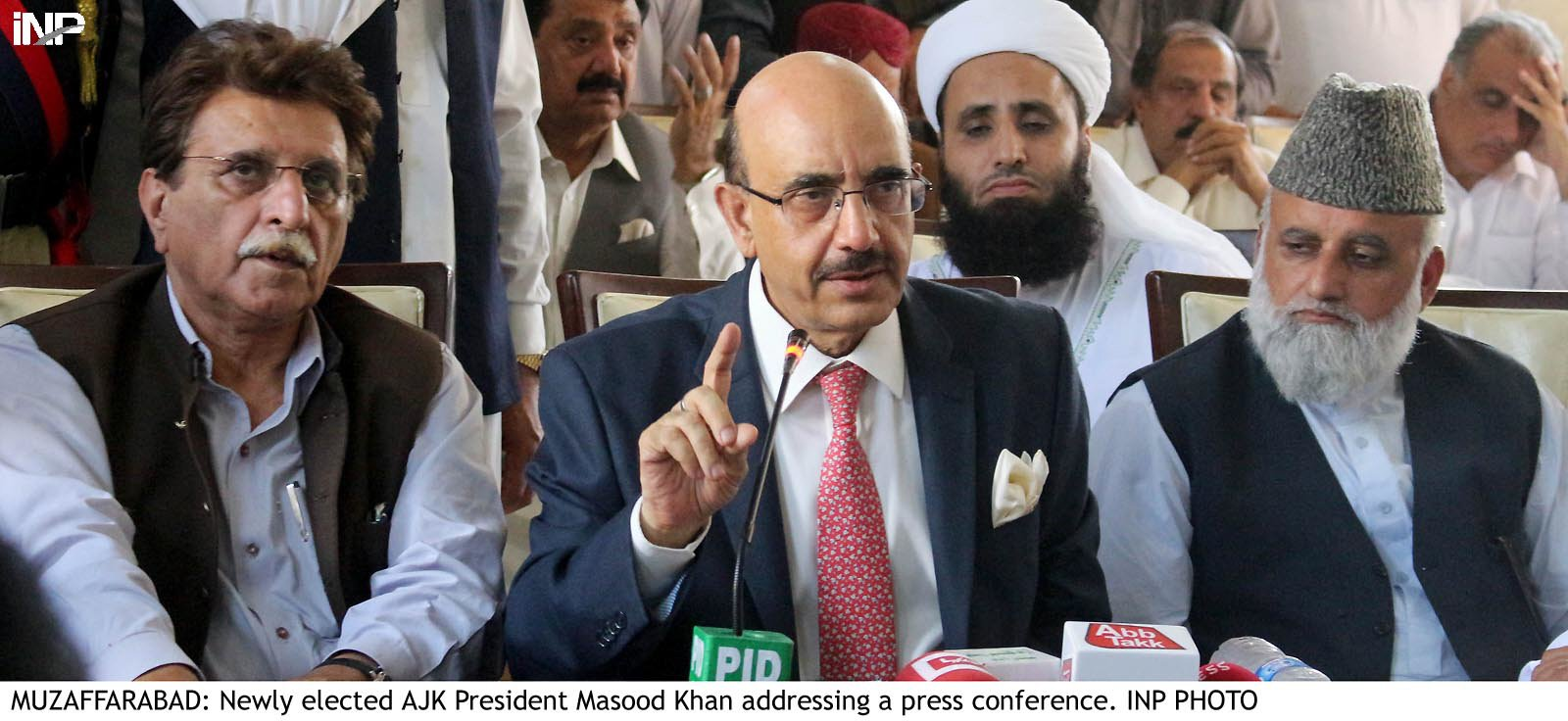 AJK PM urged the youth to use social media to highlight the Kashmir dispute in its true perspectives. PHOTO: INP/FILE