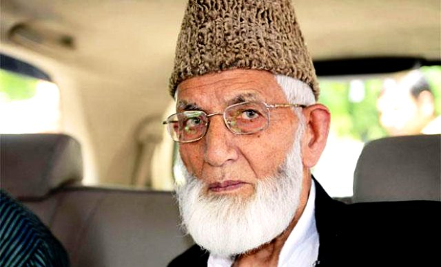 geelani calls for complete boycott of indian by elections in kashmir