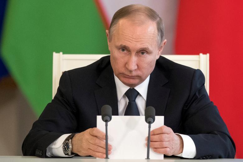 russian president vladimir putin attends a meeting with uzbek president shavkat mirziyoyev not pictured in moscow 039 s kremlin russia april 5 2017 photo reuters