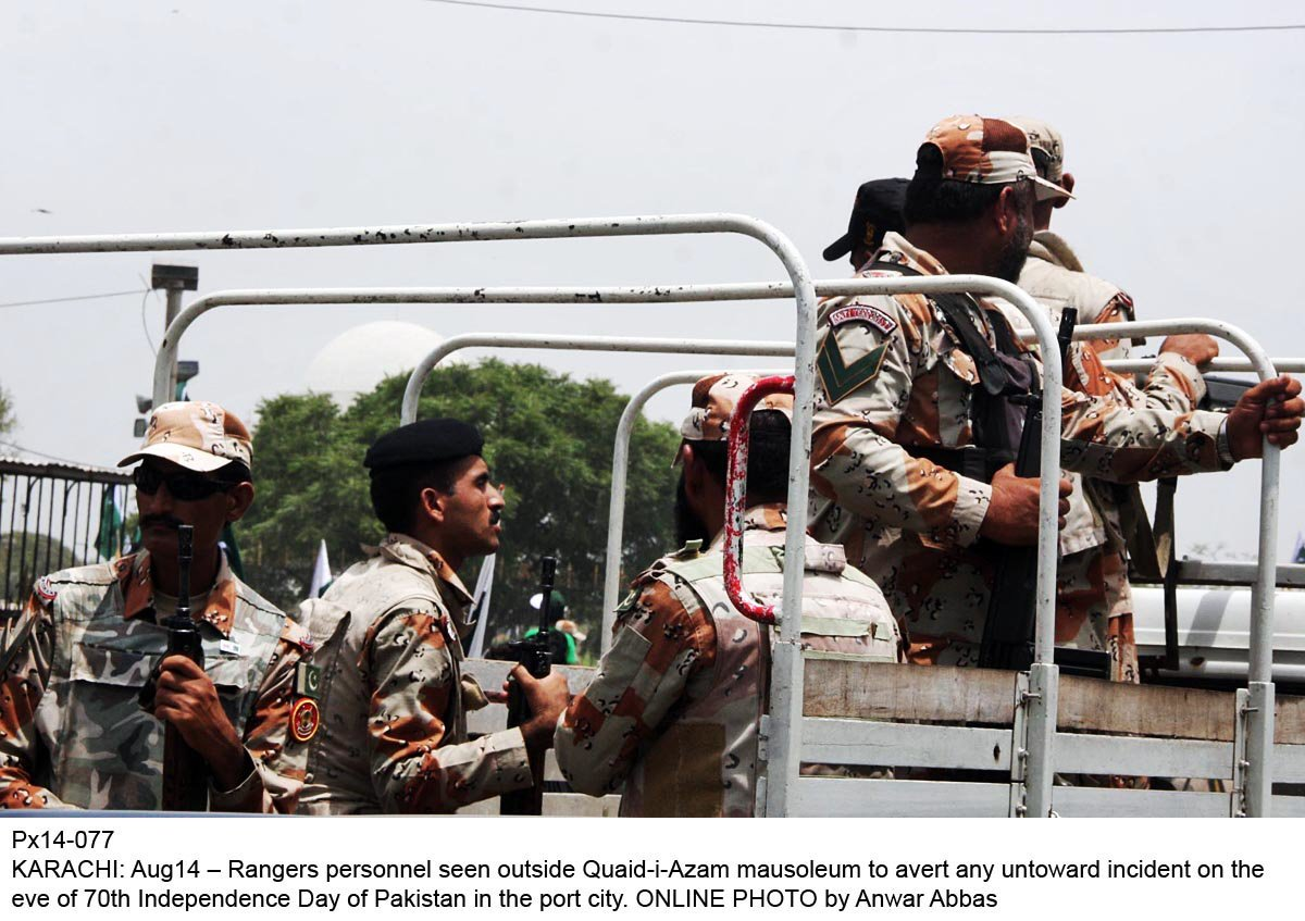 rangers admit to have lost powers in karachi