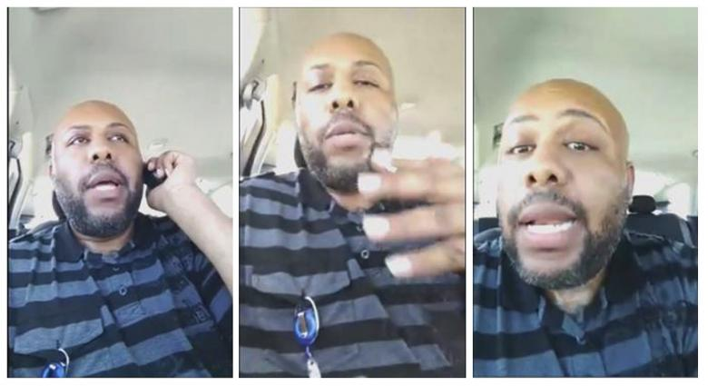 A man who identified himself as Stevie Steve is seen in a combination of stills from a video he broadcast of himself on Facebook in Cleveland, Ohio, US April 16, 2017. PHOTO: REUTERS