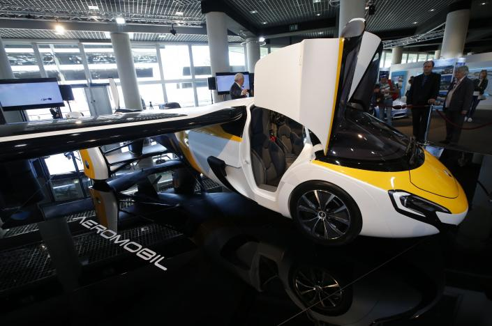 flying car costing more than 1 million goes on show in monaco