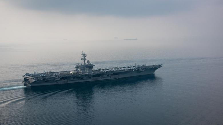 the aircraft carrier uss carl vinson cvn 70 transits the sunda strait april 15 2017 photo reuters