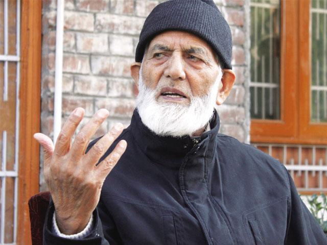A file photo of Hurriyet leader Syed Ali Geelani. PHOTO: AFP