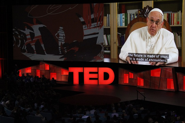 pope francis urges connection not division in ted talk