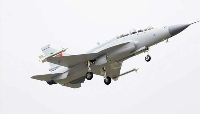 the dual seat thunder aircraft was co developed by pakistan and china photo inp