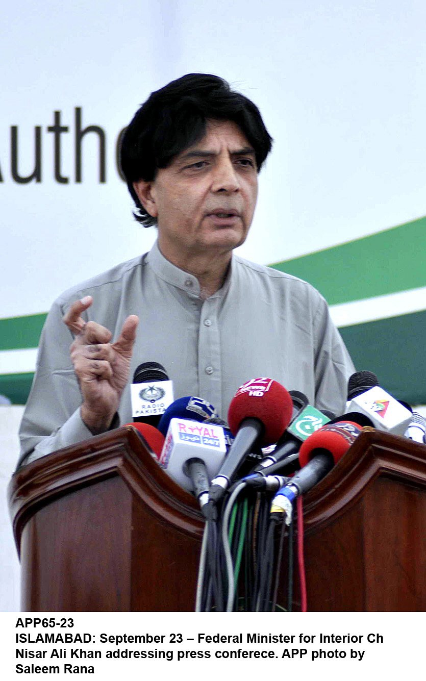 police say the terrorists intended to target the labour day rally where interior minister chaudhry nisar was scheduled to speak photo app