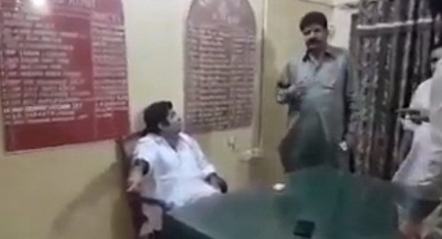 pti leader sparks social media outrage after videos show him humiliating police
