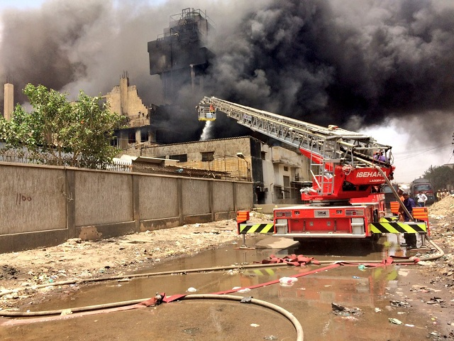 factory management blames fire brigade for inferno in site