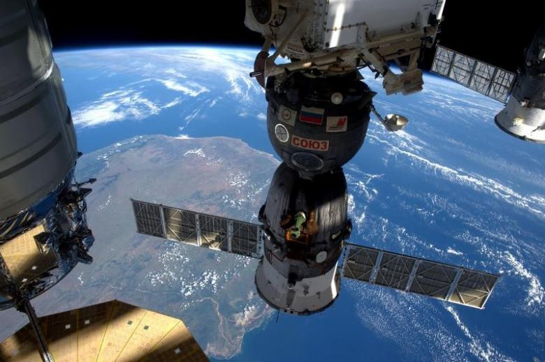 A NASA image shows the International Space Station as it flew over Madagascar. PHOTO: REUTERS