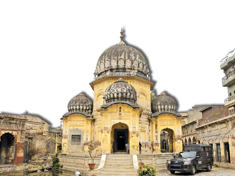jain temple doubling as playground for cops and robbers