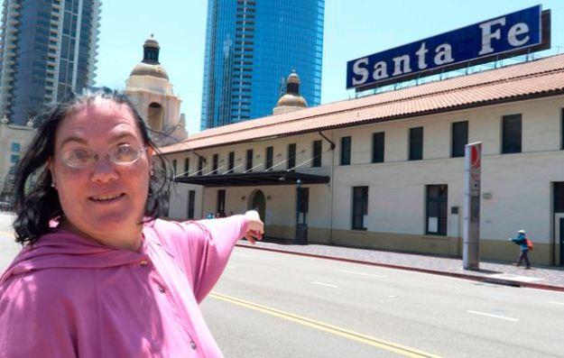 Carol Santa Fe at the Santa Fe train station. PHOTO COURTESY: Caters News Agency