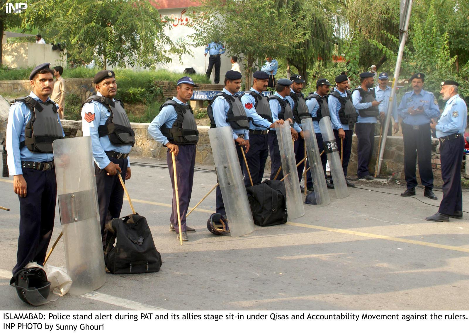 Khalid Khattak on Thursday gave approval to promote the police officers to their next ranks. PHOTO: INP