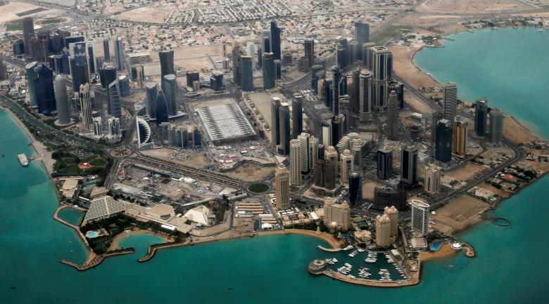 an aerial view of doha 039 s diplomatic area photo reuters