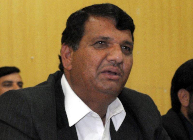 President of Pakistan Muslim League Nawaz's Khyber-Pakhtunkhwa chapter and prime minister's adviser Amir Muqam. PHOTO: Express