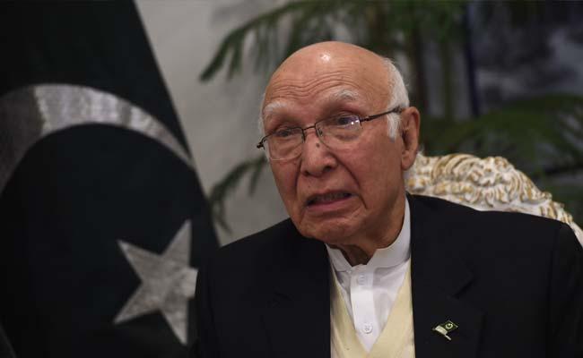Sartaj Aziz. PHOTO: AFP