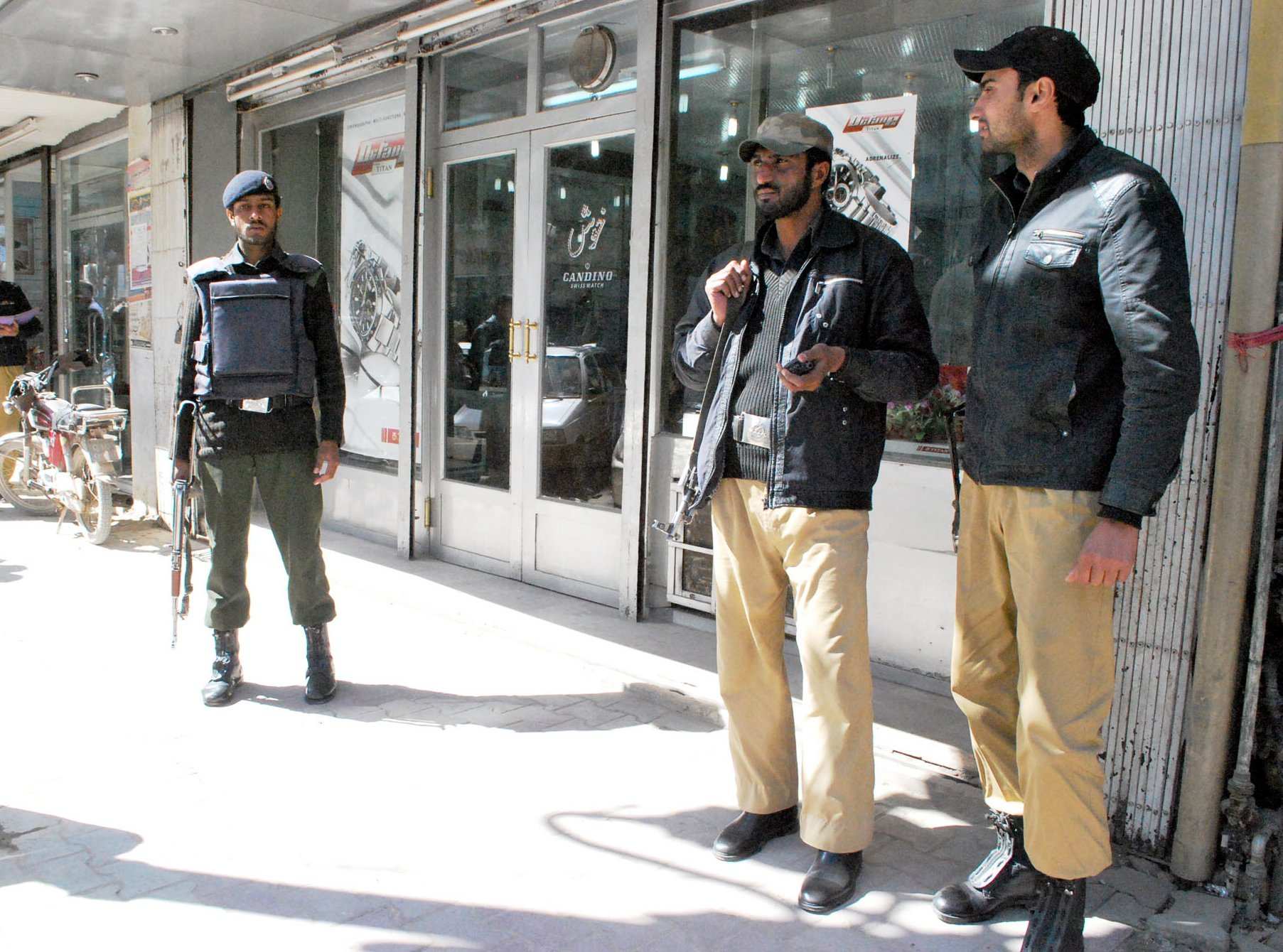 Unidentified motorcyclists opened fired on a police check post in Gen area of Chakki Shahwani on Saryab Road, Quetta. PHOTO: Express